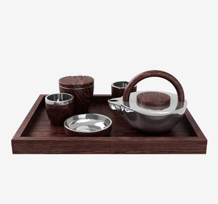 现代茶具3D模型【ID:17028304】