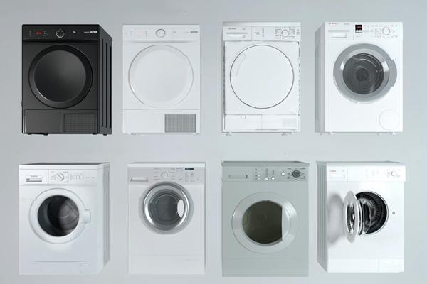 现代滚筒洗衣机3D模型【ID:17032651】