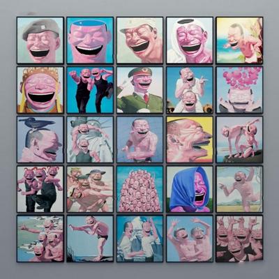 现代恶搞油画装饰画组合3D模型【ID:17037104】