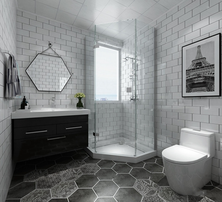 现代卫浴空间3D模型【ID:17041463】