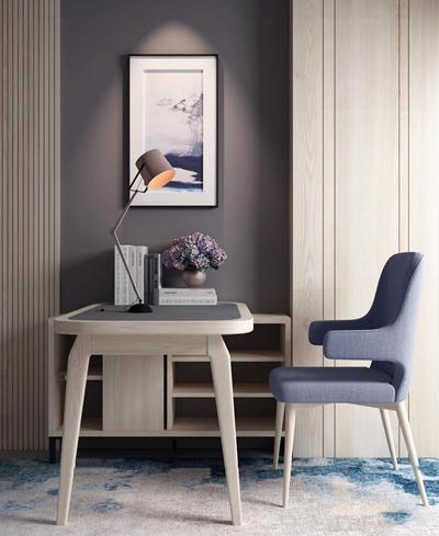 北欧书桌椅子挂画组合3D模型【ID:17042598】