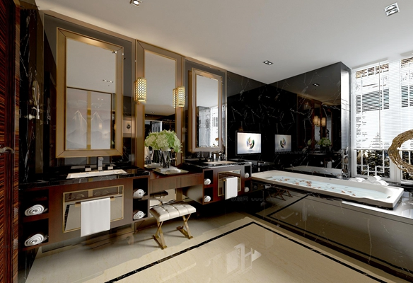 现代卫浴空间3D模型【ID:17046568】