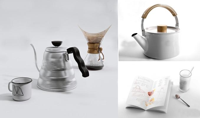 现代水壶茶壶茶杯组合3D模型【ID:17068003】