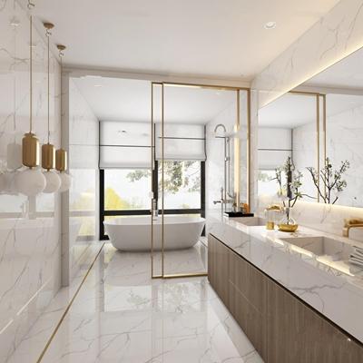 现代卫浴空间3D模型【ID:17068668】