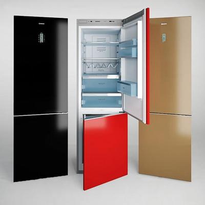 现代冰箱组合3D模型【ID:17075727】