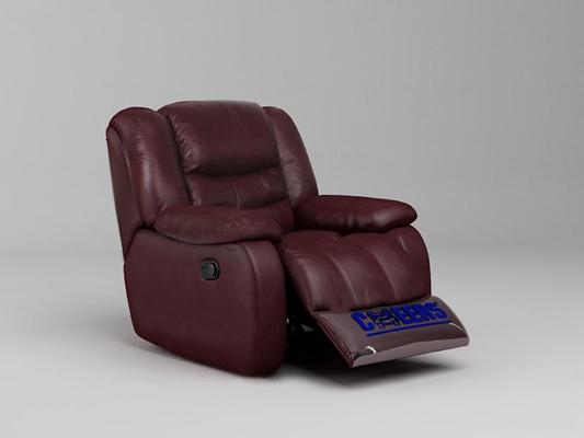 现代皮革功能沙发3D模型【ID:17079324】