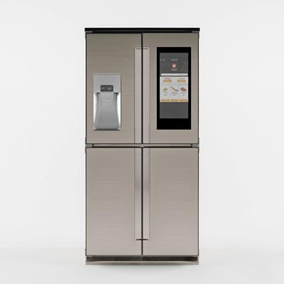 现代双门冰箱3D模型【ID:17081320】