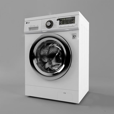 洗衣機3D模型【ID:17089452】