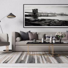 现代沙发组合3D模型【ID:17099300】