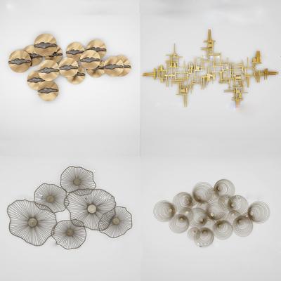 现代金属挂件组合3D模型【ID:17144019】