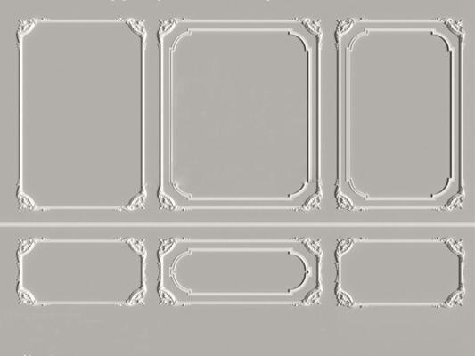 欧式石膏线条3D模型下载【ID:17145313】
