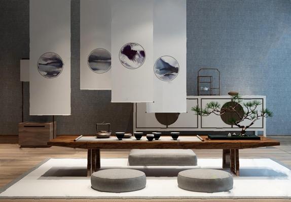 茶桌3D模型【ID:17165367】