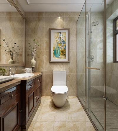 欧式浴室卫生间3D模型【ID:17168166】