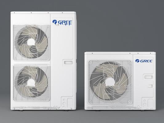 现代格力空调外机组合3D模型【ID:17168441】