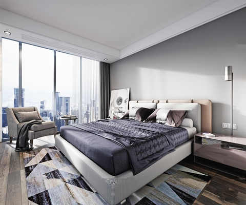 现代卧室3D模型【ID:17170033】