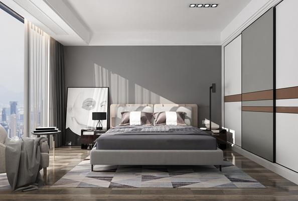 现代卧室3D模型【ID:17172233】