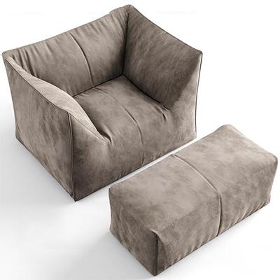 现代布艺休闲沙发3D模型【ID:17188624】