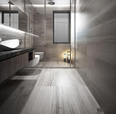 现代卫浴空间3D模型【ID:17193563】