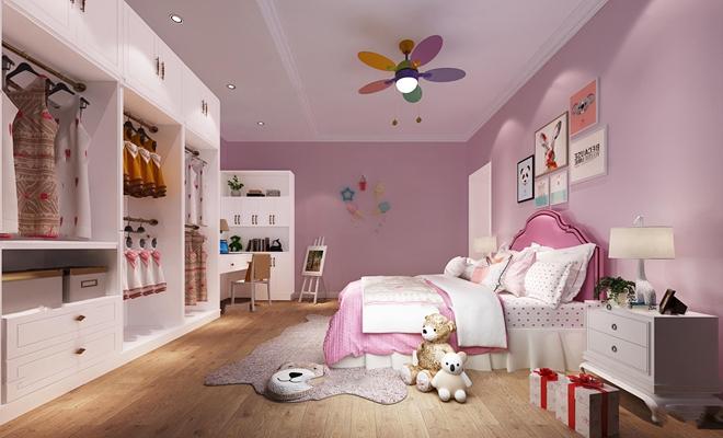现代卧室女儿房3D模型【ID:17197527】