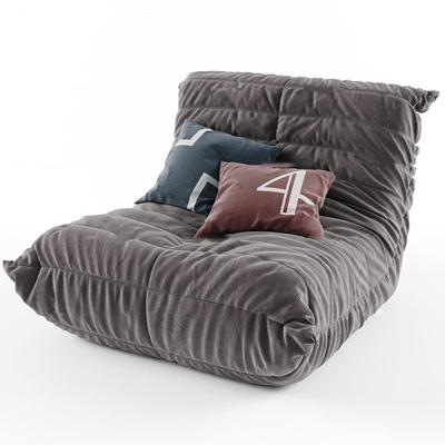 现代休闲布艺沙发3d模型【ID:17198423】