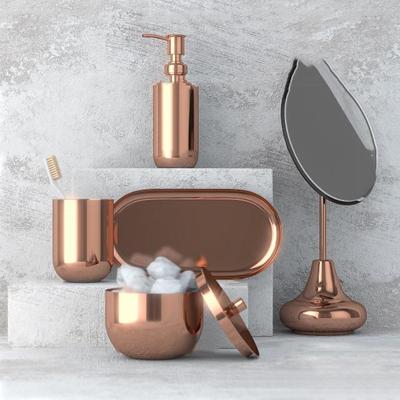 现代金属卫浴小件组合3d模型【ID:17198470】