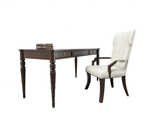 简欧书桌椅3d模型【ID:17202893】
