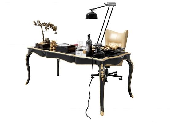 欧式书桌3d模型【ID:17202997】