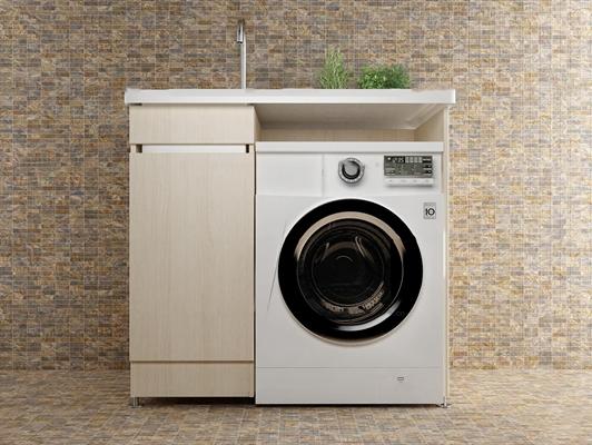 现代滚筒全自动洗衣机3D模型【ID:17203254】