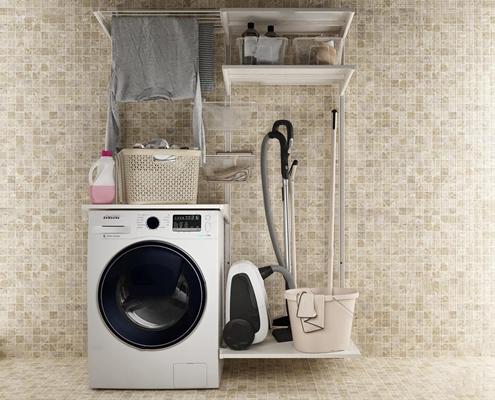 现代洗衣机3D模型【ID:17204258】