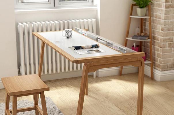 现代实木书桌椅装饰架电脑盆栽书籍组合3D模型【ID:17209291】