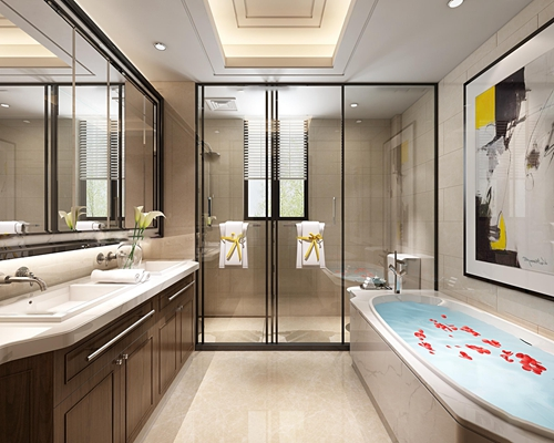现代卫浴空间3D模型【ID:17211964】