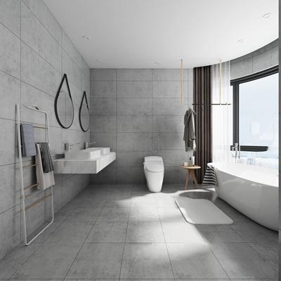 北欧卫浴空间3D模型【ID:17214967】