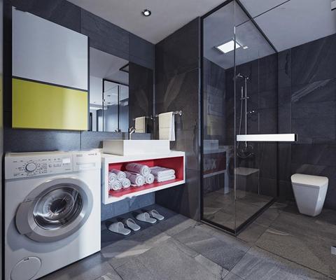 现代卫浴空间3D模型【ID:17215065】