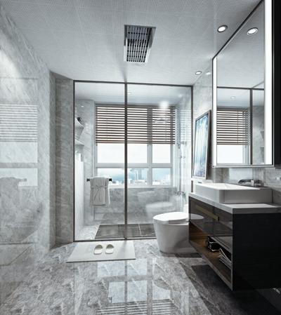 现代卫浴空间3D模型【ID:17221065】