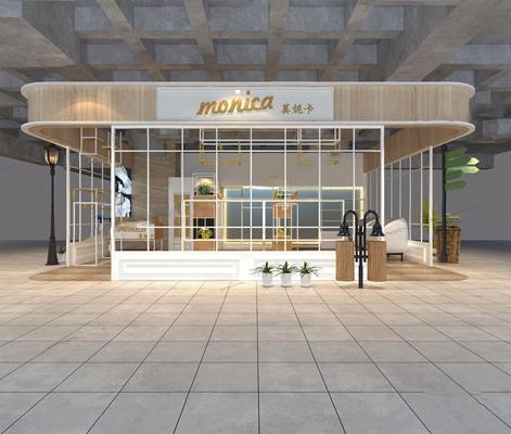 現代商場服裝店3D模型【ID:528029418】