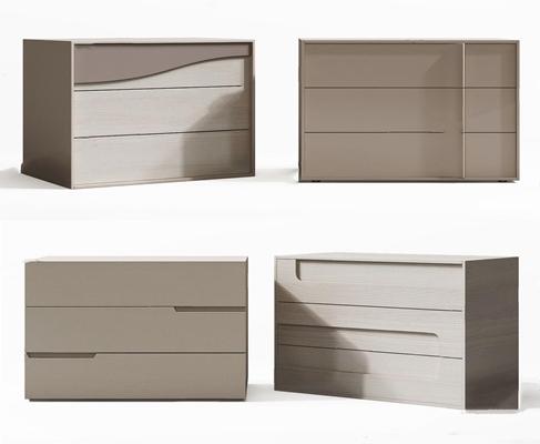 现代简约床头柜组合3D模型【ID:928334647】