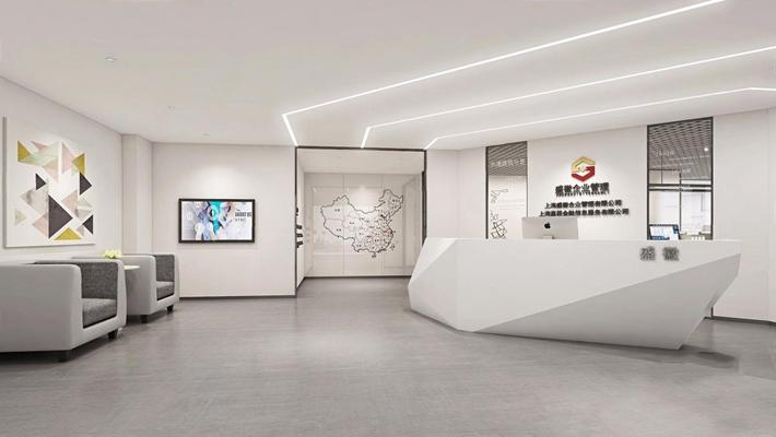 现代办公室前厅3D模型【ID:728109729】