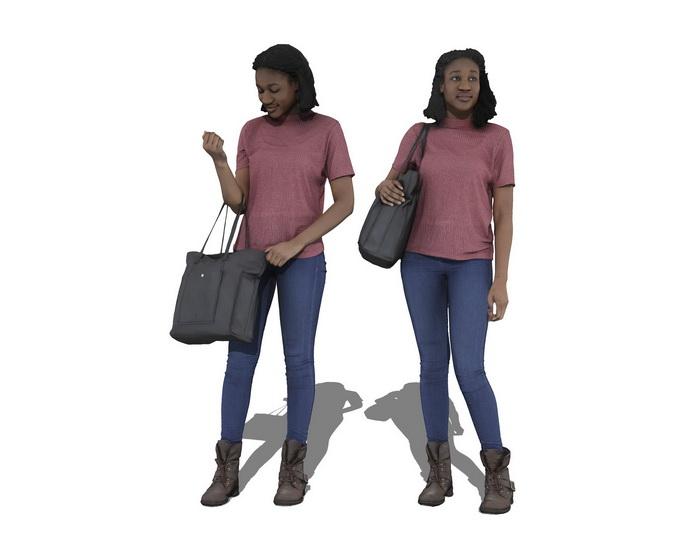 3D女人物SU模型【ID:136346728】