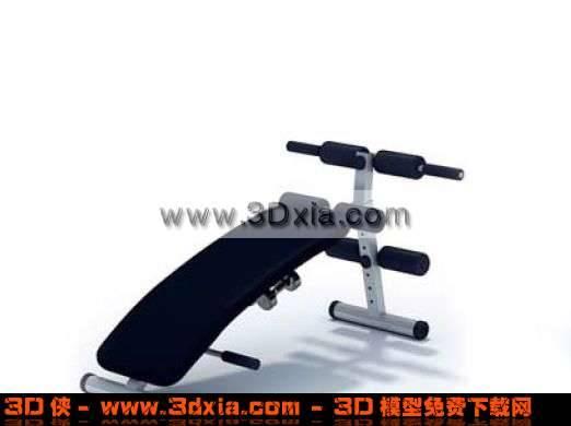 健身房常�的器材模□ 型3D下�d3D模型【ID:1851】