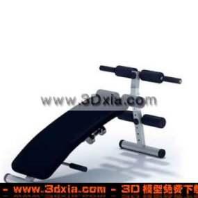 健身房常见的器材模型3D下载3D模型【ID:1851】
