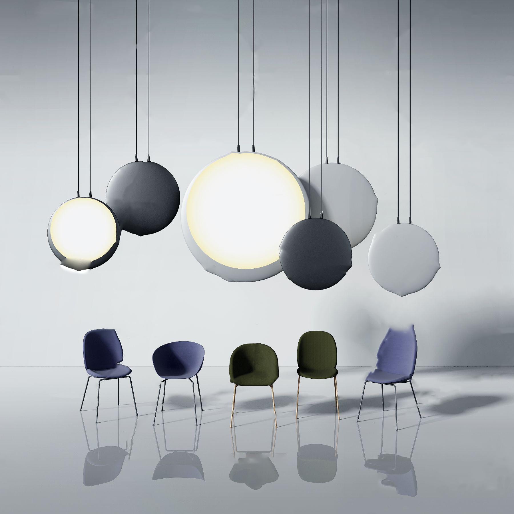 现代创意圆形吊灯单椅3D模型【ID:743756888】