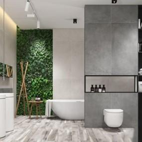 现代洗手间3D模型【ID:528041477】