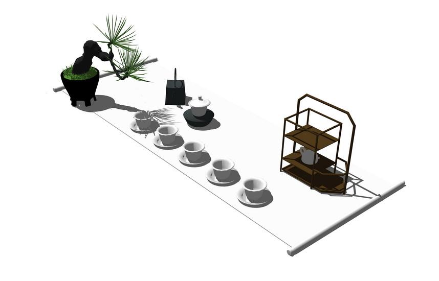 茶具SU模型【ID:936346466】
