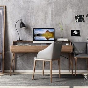 北欧书桌椅3D模型【ID:327915742】