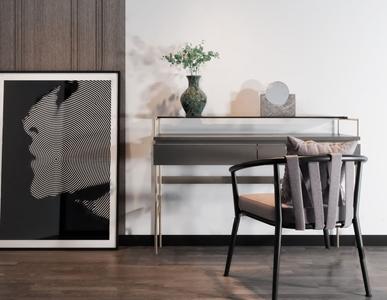后现代书桌椅组合3D模型【ID:941802076】