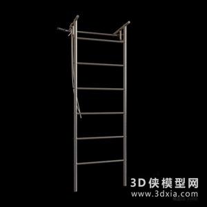 健身器材國外3D模型【ID:129844852】
