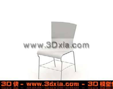3D非常简单的椅子模型3D模型【ID:1916】