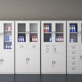 现代办公文件柜3D模型【ID:928564515】