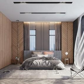 现代卧室 3D模型【ID:541631228】