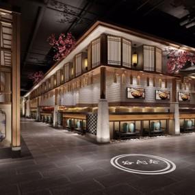 新中式餐厅3D模型【ID:528029547】